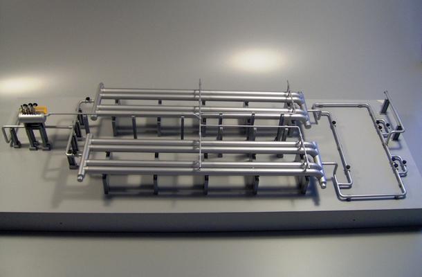 modelli plastici di impianti