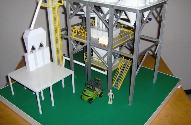 modello plastico impianto