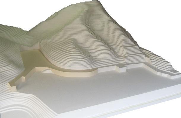 modello plastico ambientale territoriale curve di livello monocormarico