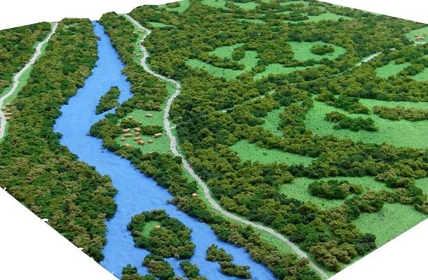 modello plastico ambientale territoriale geografico