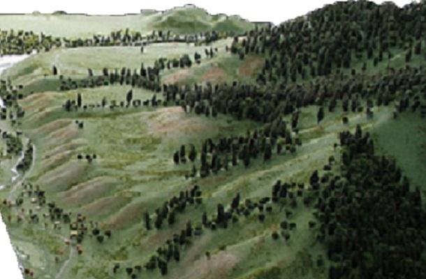 modello plastico ambientale territoriale realistico