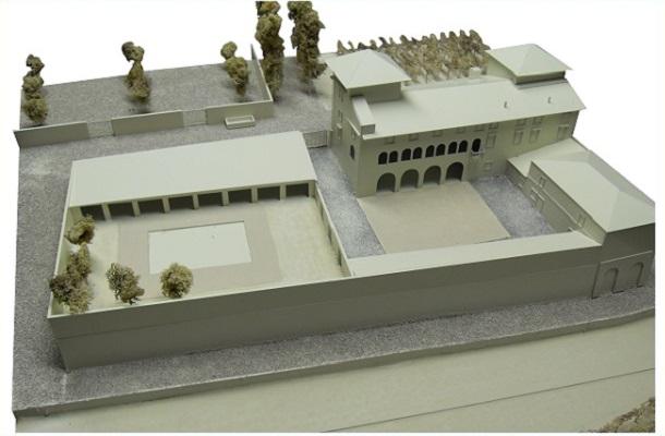 modello plastico architettonico monocromatico