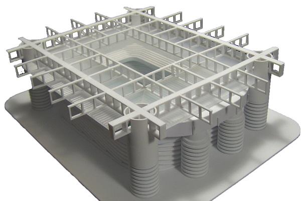 modello plastico architettonico volumetrico