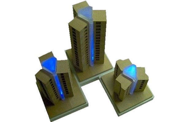 modello plastico illuminato dinamico