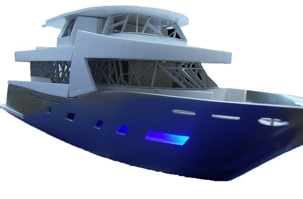 modello plastico illuminato navale