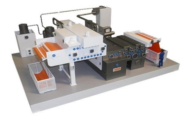 modello plastico impianto industriale produzione
