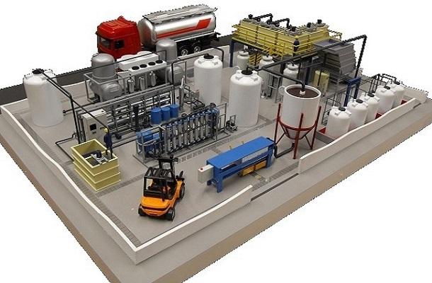 modello plastico impianto industriale realistico