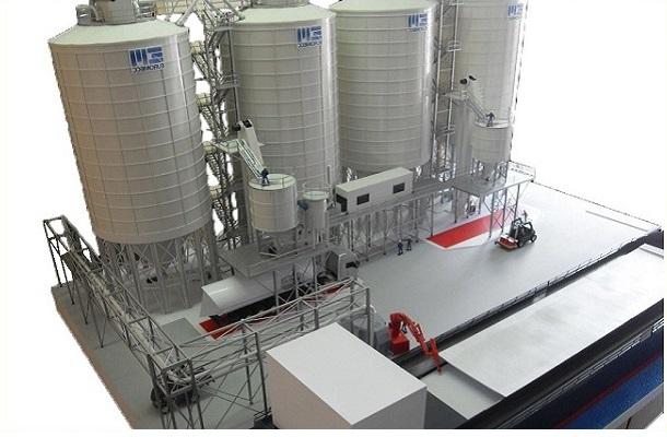 modello plastico impianto industriale stoccaggio