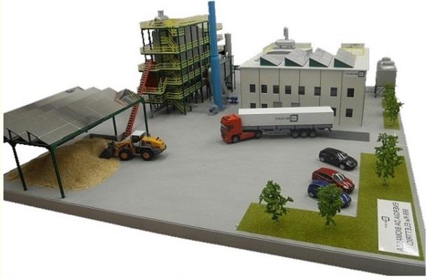 modello plastico impianto industriale trattamento