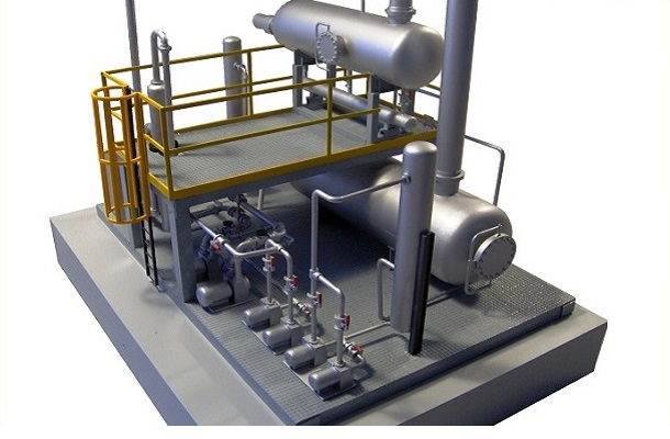 modello plastico impianto industriale tubazioni