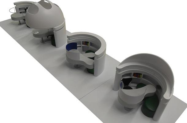 modello plastico realizzazione multipla arredo