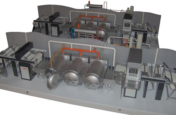 modello plastico realizzazione multipla impianto industriale statico