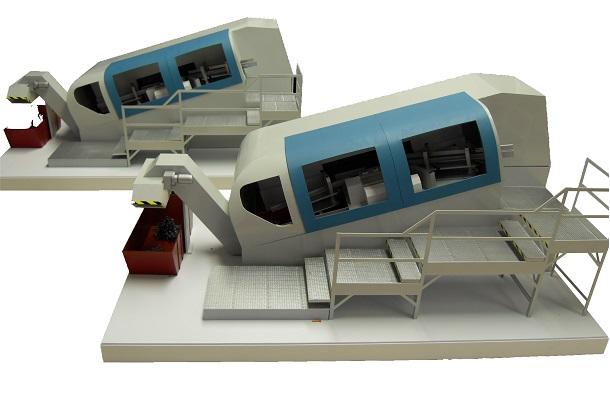 modello plastico realizzazione multipla macchinario industriale