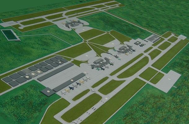 modello plastico planimetria aereoporto