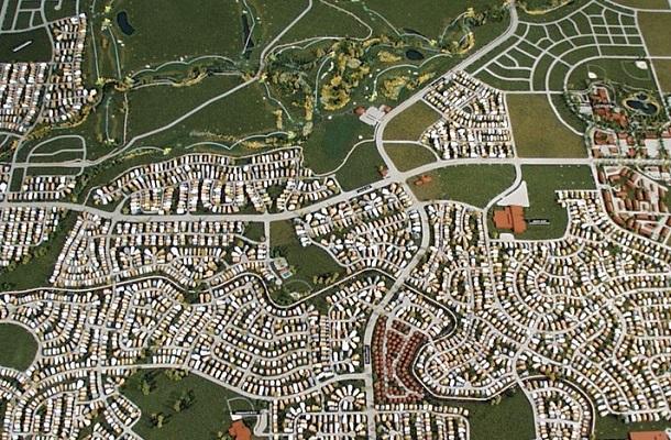 modello plastico planimetria area urbana