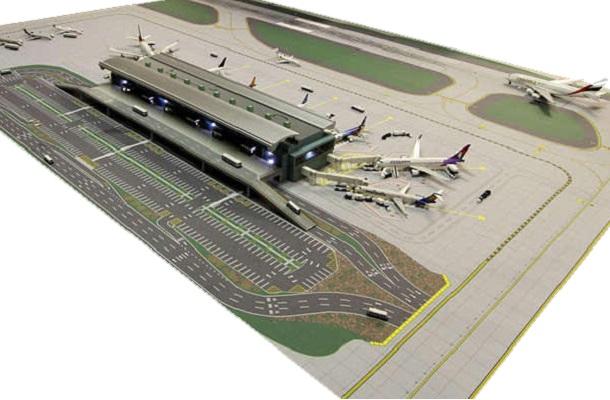 modello plastico trasporto aereo