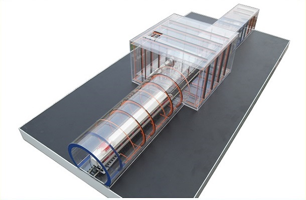modello plastico trasporto metropolitano
