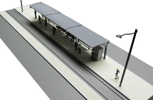 modello plastico trasporto stazione