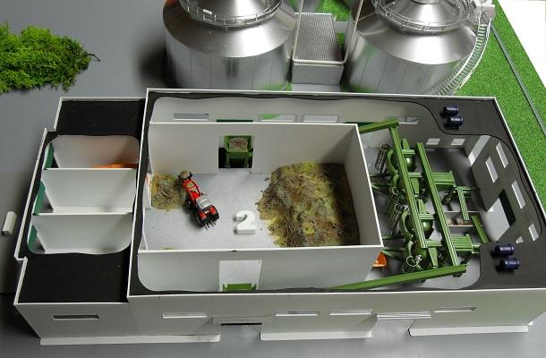 modello plastico impianto trattamento industriale biogas