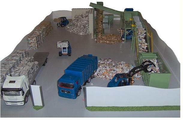 modello plastico impianto trattamento industriale carta