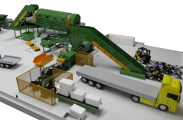 modello plastico impianto trattamento industriale selezione