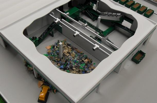 modello plastico impianto trattamento industriale stoccaggio