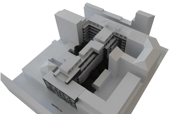 modello plastico volumetrico residenziale